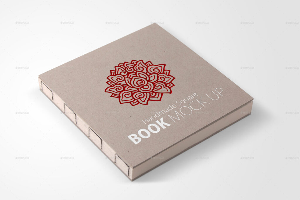 Handmade Square Book Mock up