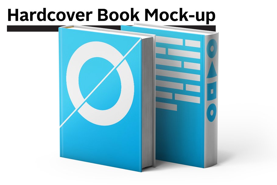Hardcover Light Blue Square Book Template Design