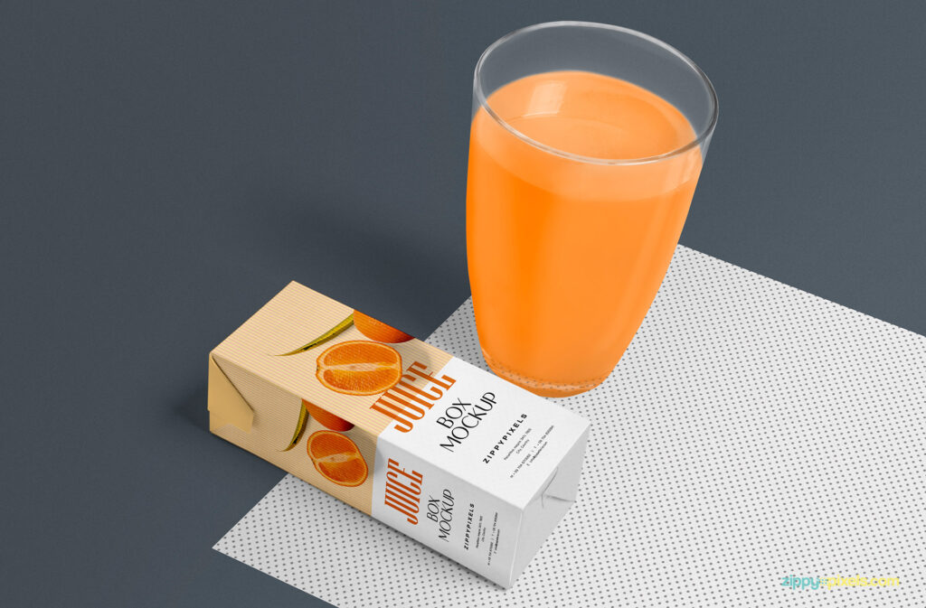 Healthy Juice Box Design in PSD Format