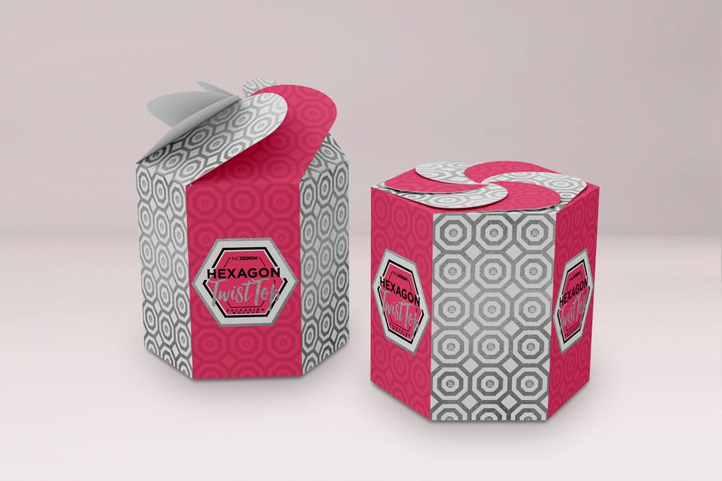Hexagon Twisted Kraft Box Design