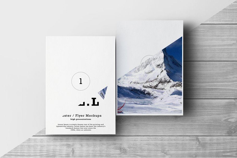 Hilly Area Photo Print Poster And Flyer Mockup