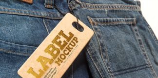 Jeans Tag Label Mockup