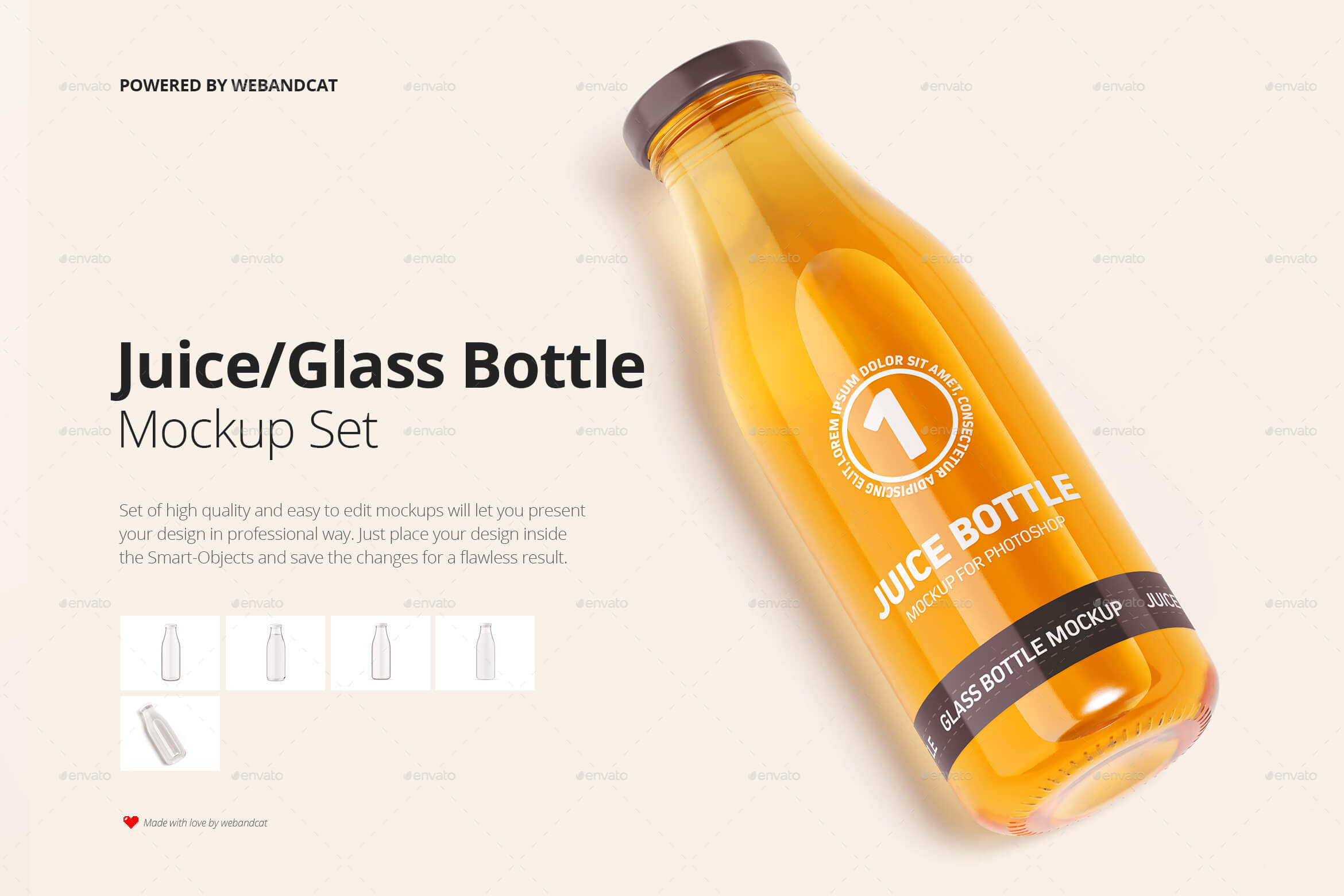 Juice / Glass Bottle Mockup