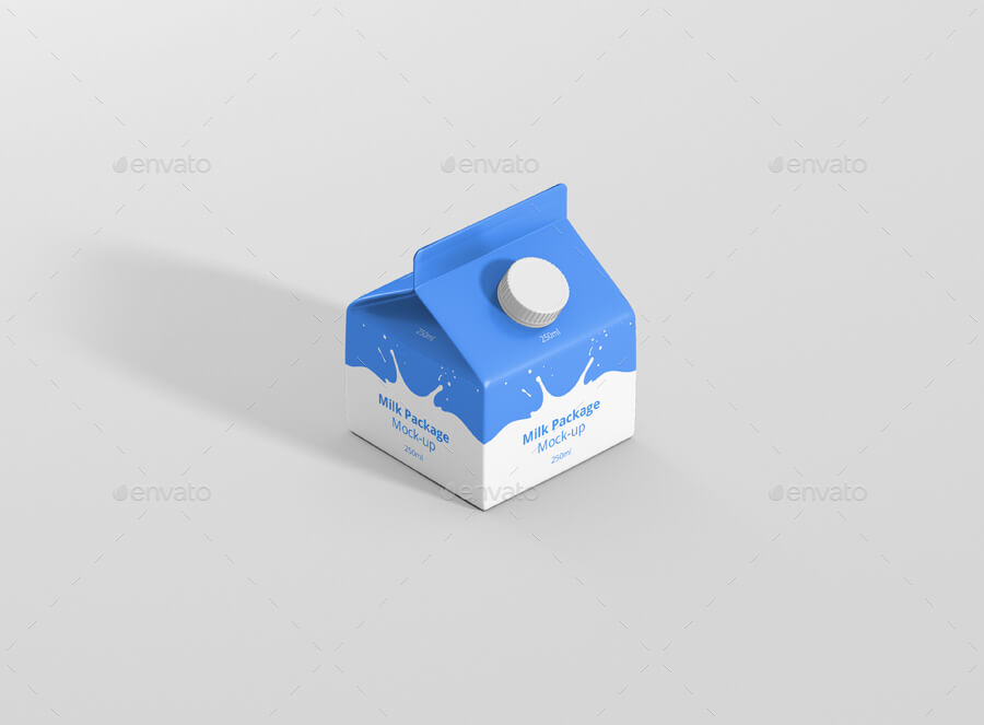 Juice / Milk Mockup - 250ml Carton Box