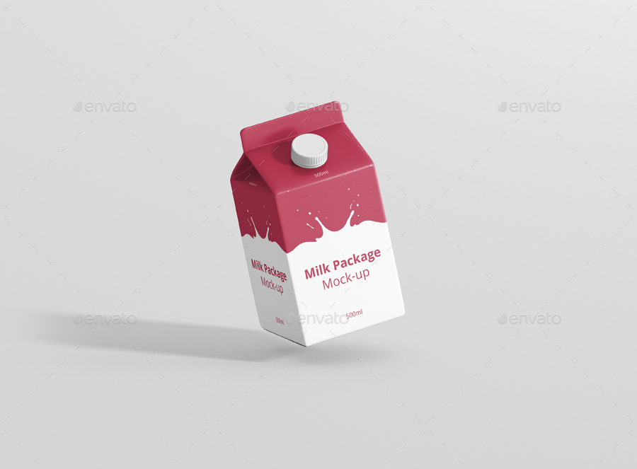 Juice / Milk Mockup - 500ml Carton Box