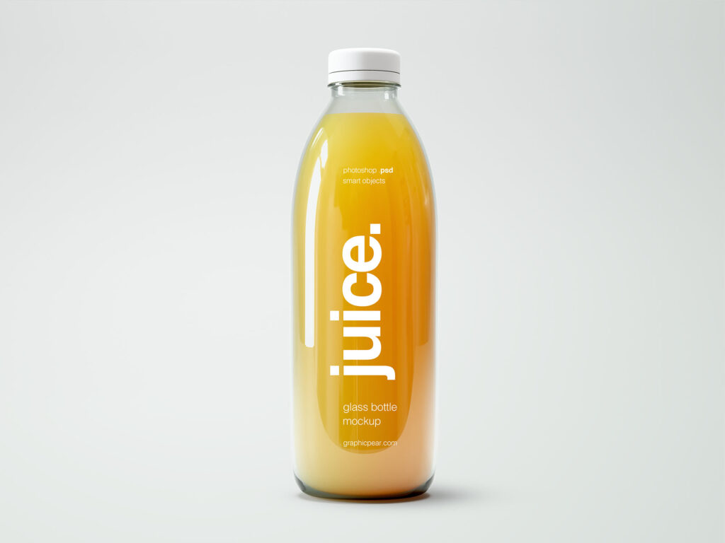 Juice Stored in a sealed bottle PSD