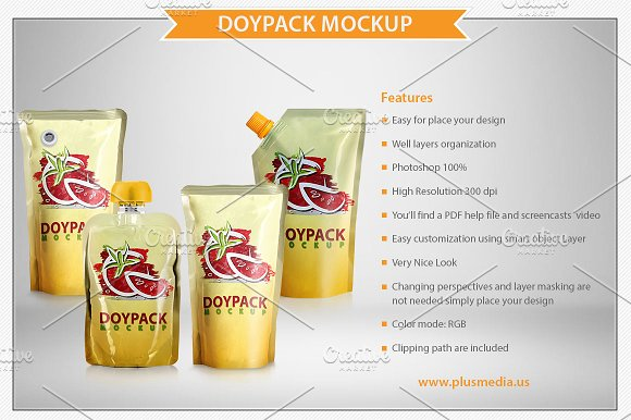 Juice in Pouches Design template