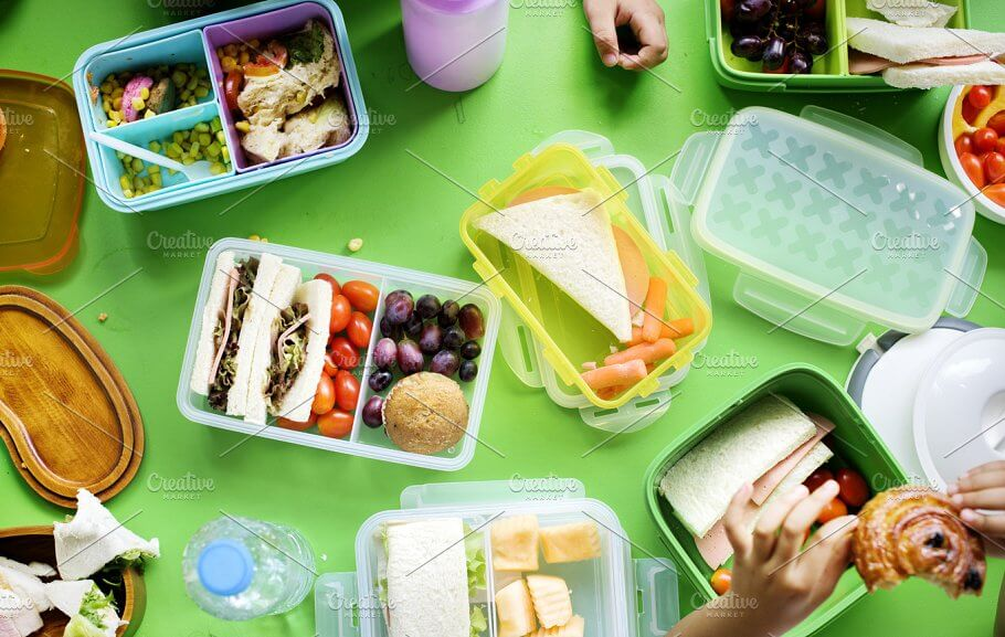 Kids Lunch Box Design template in PSD File Format