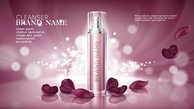 Ladies Perfume Bottle PSD Template.