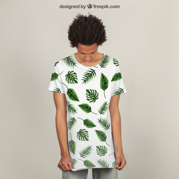 Leaves T-shirt print PSD