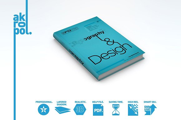 Light Blue Colored Book Mockup