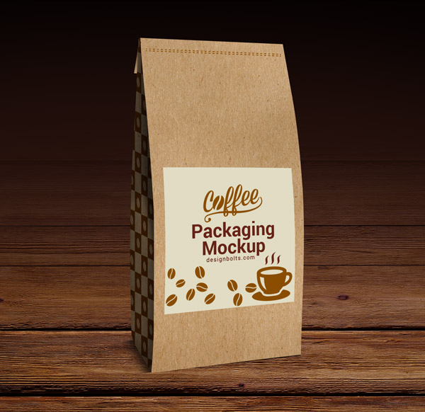 Light Brown Color Coffee Packaging Mockup