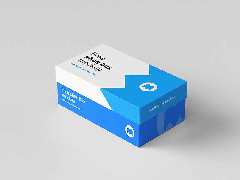Light Color Shoe Packaging Box Mockup