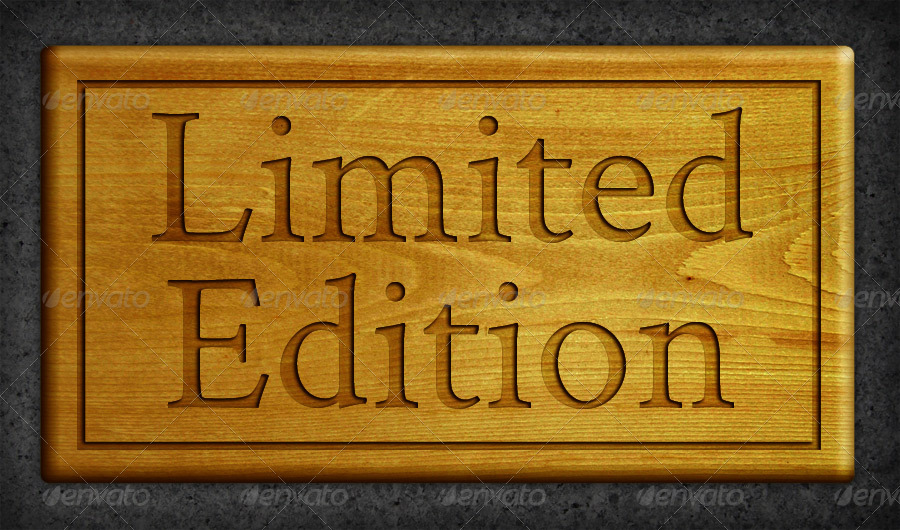 Limited Edition Customizable Wood Sign Board Mockup