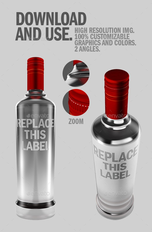 Liquor Bottle .PSD Mockup