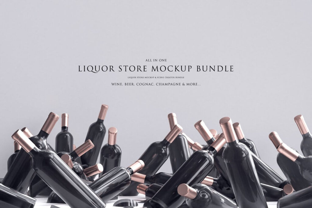 Liquor Store Mockup Bundle