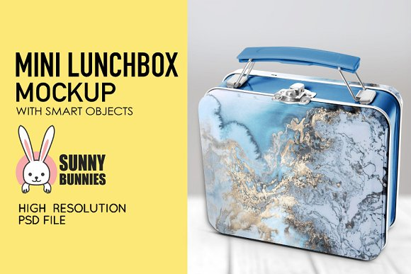 Lunch Box Design template With Abstract Print