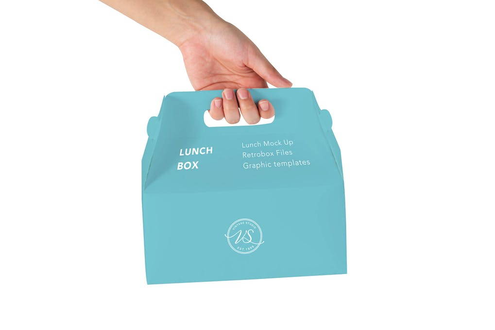 Lunch Box In A Hand Mockup.