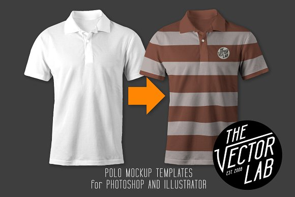 Men Polo T-shirt Mockup:
