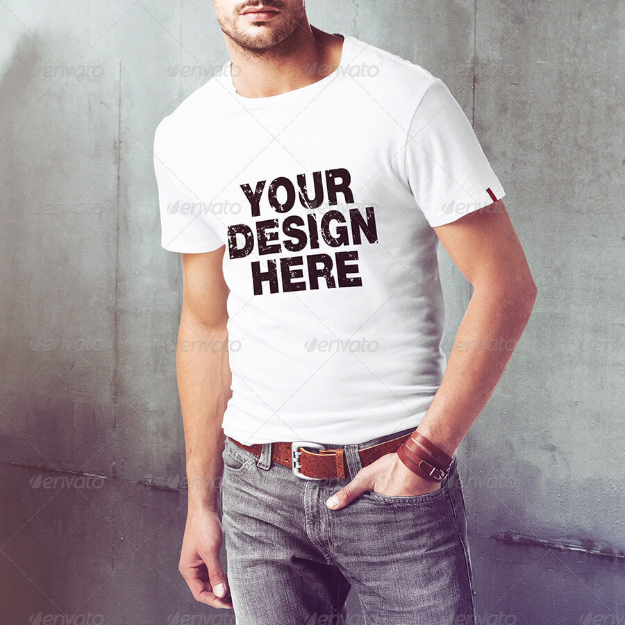 Men T-Shirt PSD Mock-Up