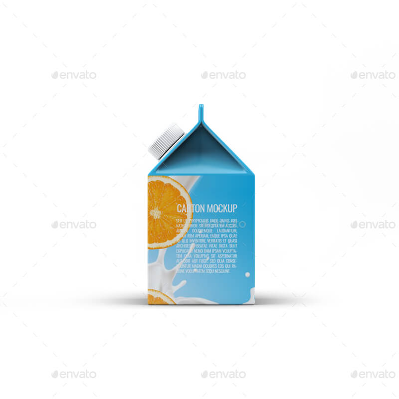 Milk or Juice Carton Mock-Up v.4