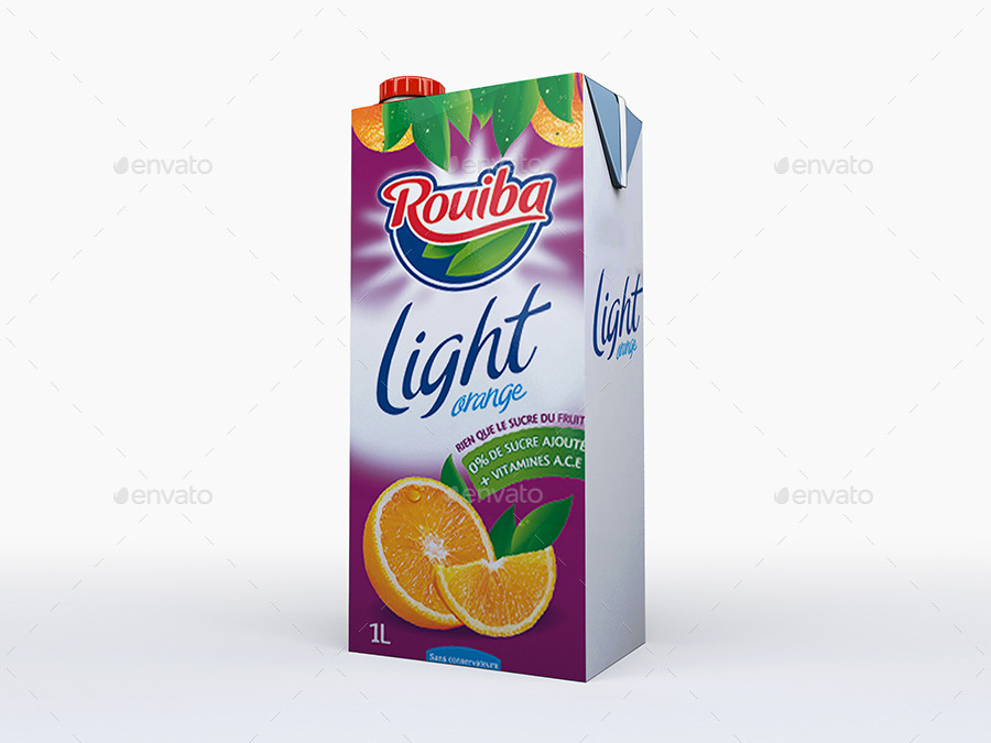 Milk or Juice Carton Mockup