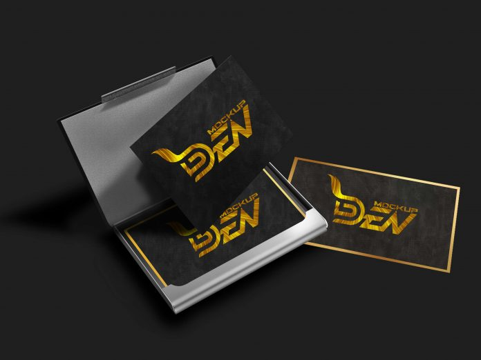 Mockupden Exclusive Black Business Card Mockup