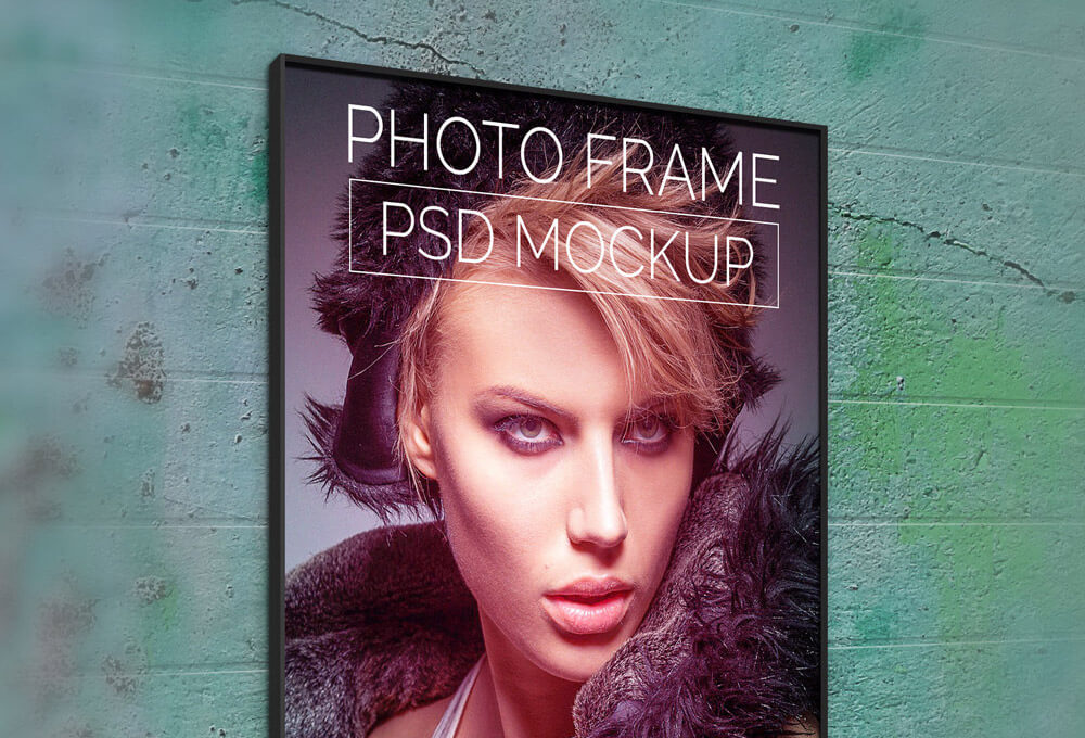 Model Photo Printed Poster Template