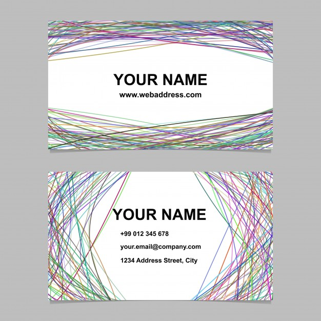 Modern Name Card Vector Format
