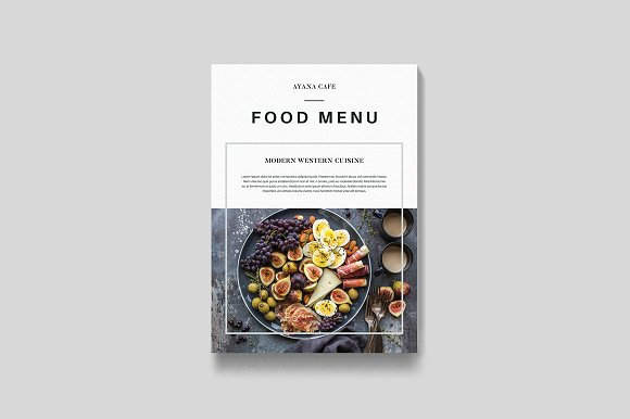 Modern Western Food Menu Card