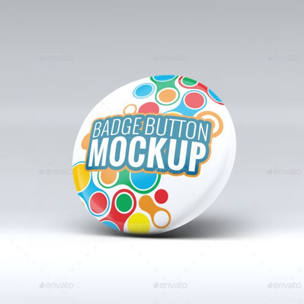 Multi Color Badge Button Template Design