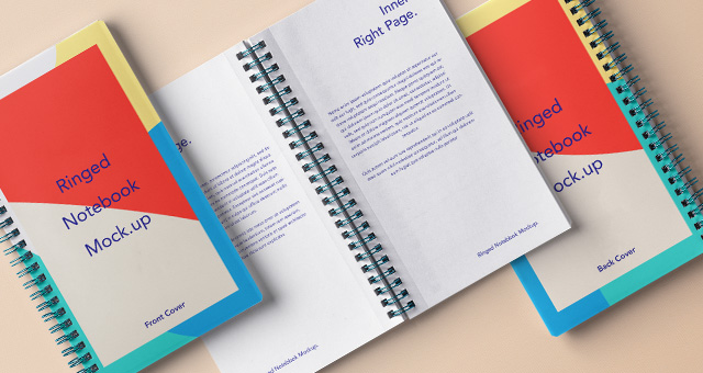 Multi-Color Cover Notepad PSD Format