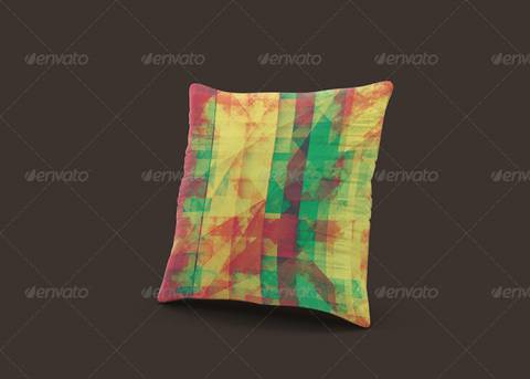 Multi Color Pillow PSD Format