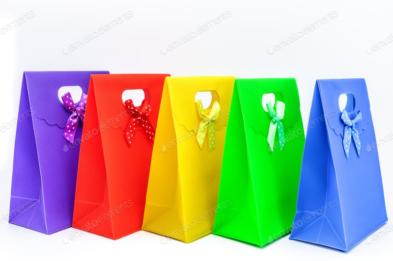 Multi colored Gift Bag Photos