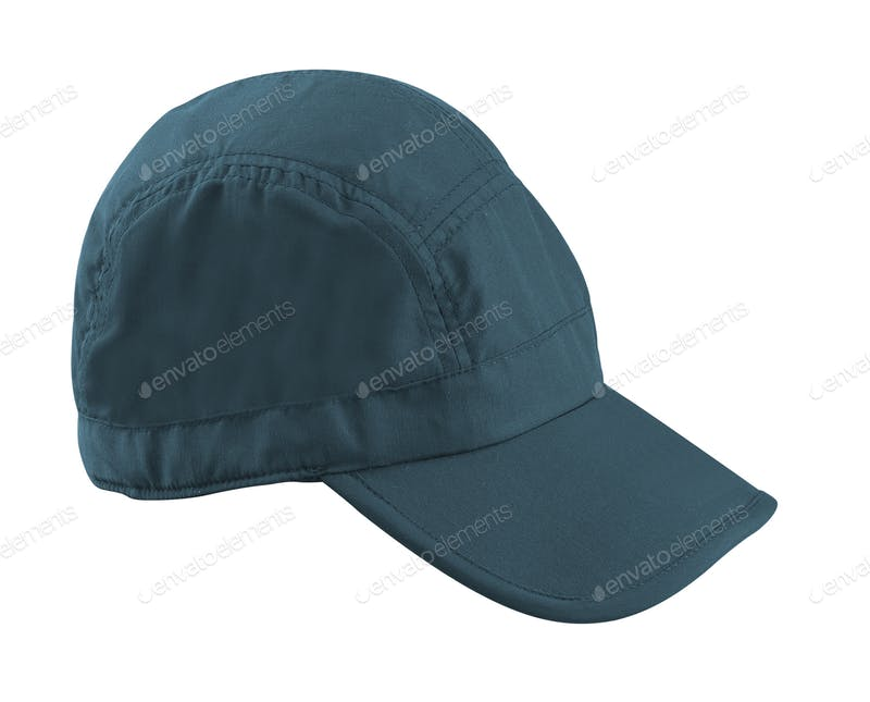Navy Blue Color Baseball Cap Mockup