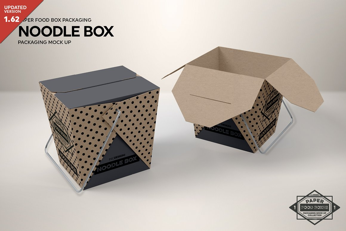 Noodle Packaging Box Mockup