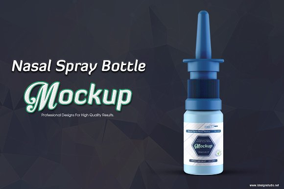Nose Spray Bottle PSD Mockup