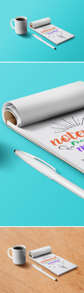 Notebook With Pen Customizable PSD File