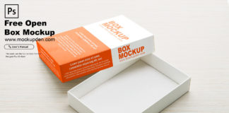 Free Open Box Mockup PSD Template