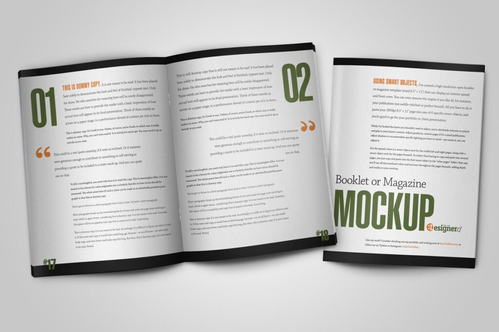Open and Closed Booklet Mockup