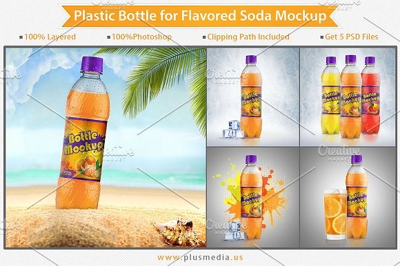 Orange Juice Bottle Label Design PSD