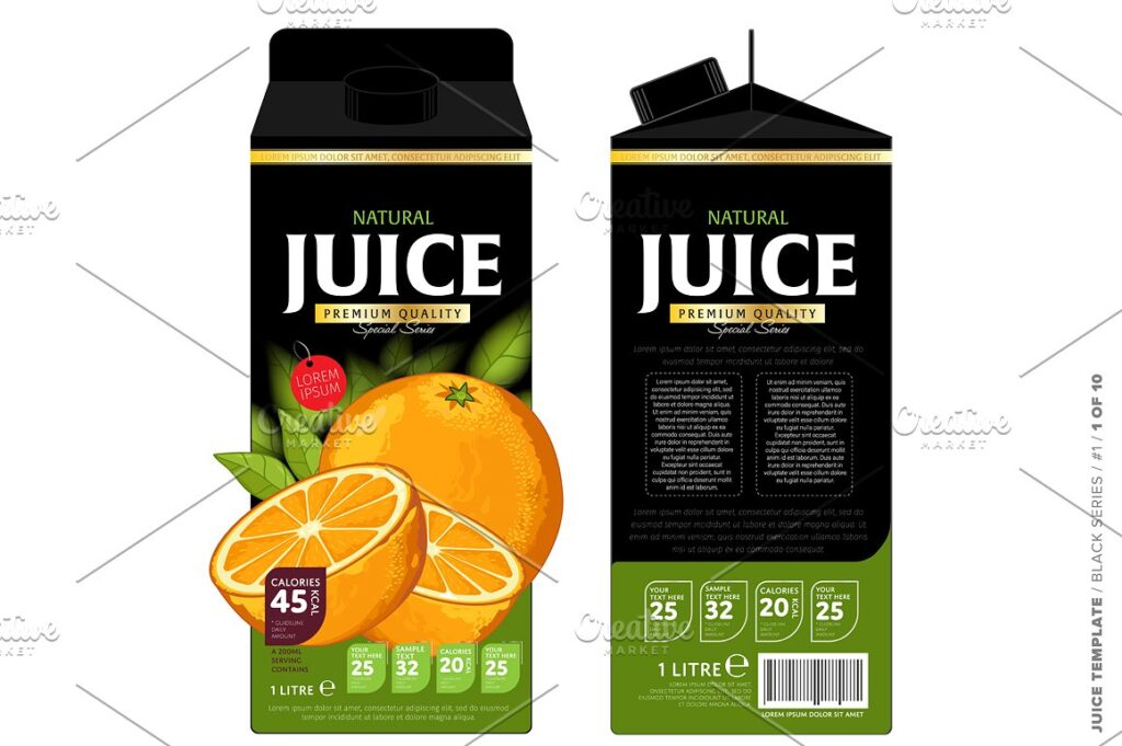 Orange Juice Packaging Mockup