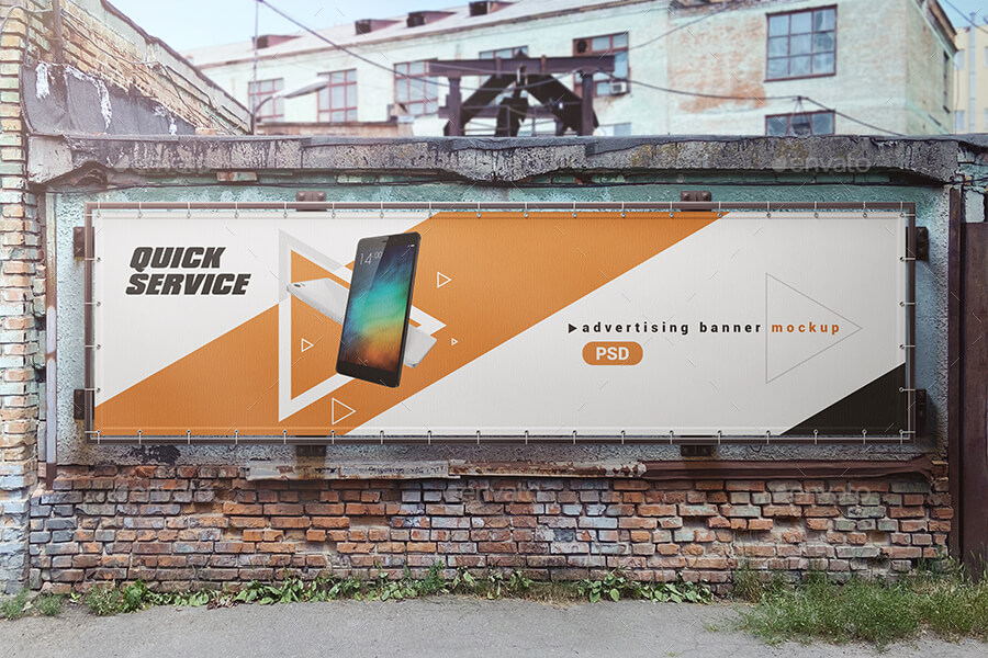 Outdoor Advertising Board / Banner Mockup