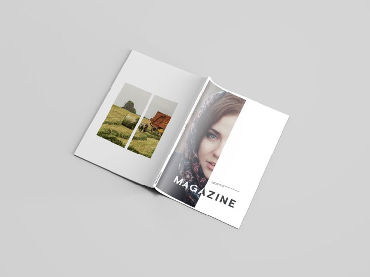 Outstanding Magazine PSD on a Editable background