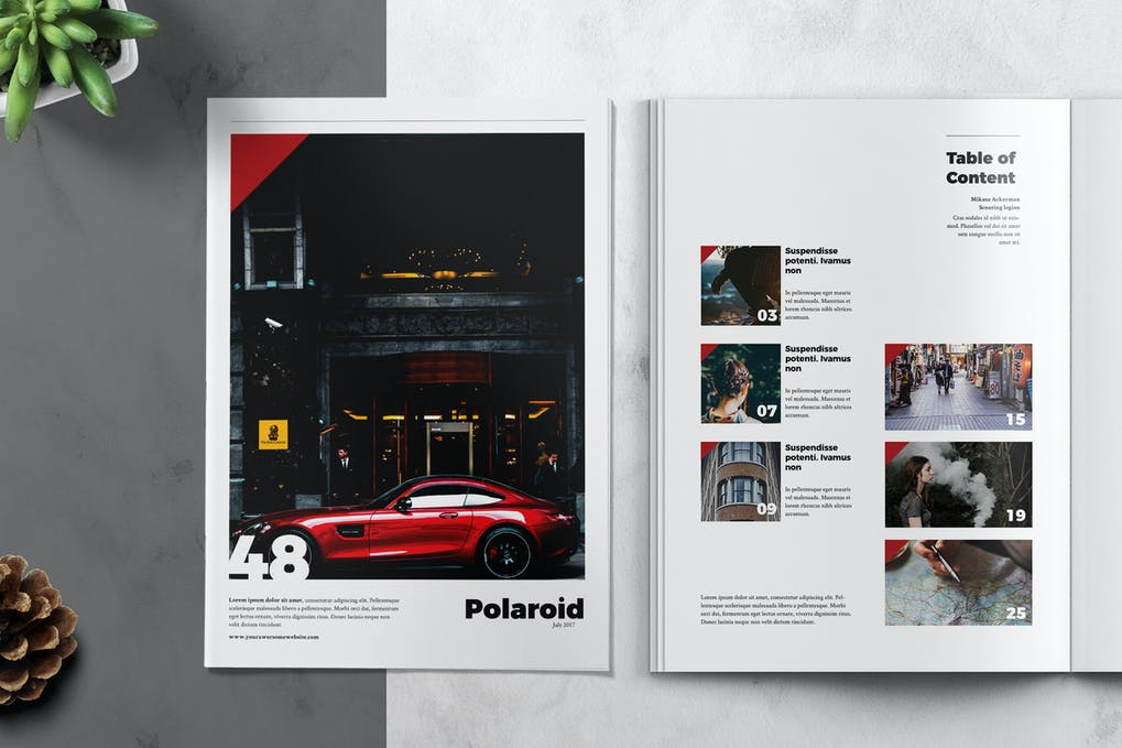 POLAROID - Magazine Template
