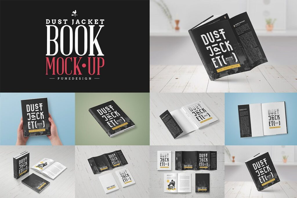 PSD Design Book Mockup Illustration