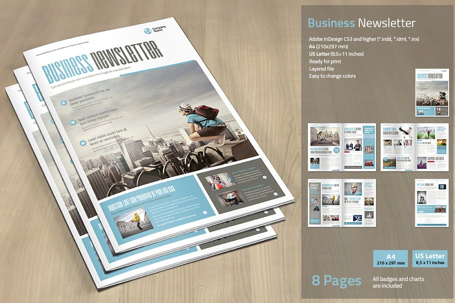 Pages Business Newsletter Mockup