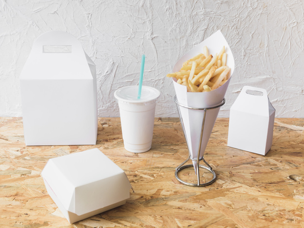 Paper Breakfast Packaging Bag And Cup Set