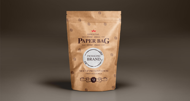 Paper Packaging Bag Mockup