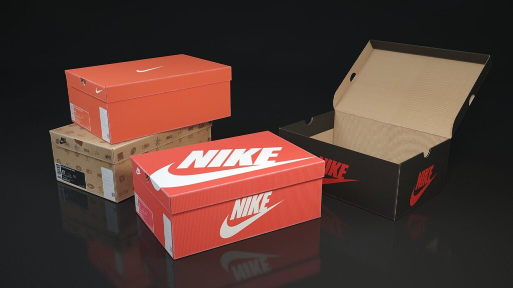 Paper Shoes Packing Box Mockup